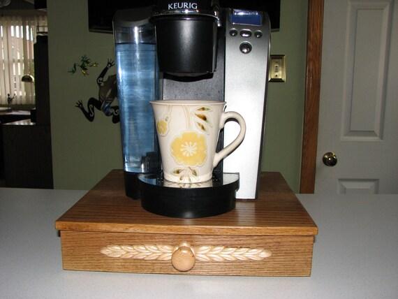 Handcrafted Oak Keurig K Cup Holder Drawer Dispenser