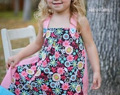 Little Girl's Floral/Dots Jumper -- 5T -- ESASO Team -- ready to ship - MimisMunchkins