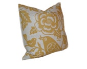 Maize Yellow Pillow - Aviary Fabric by Thomas Paul