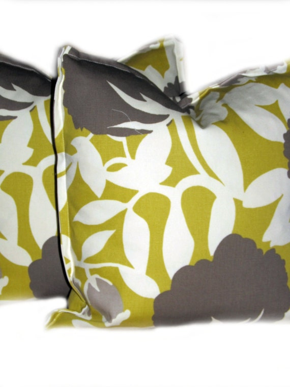 Sofa Pillow - Set of 2 - Chartreuse Thomas Paul - Square