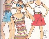 Butterick 5396 Young Designer Kenzo Bodysuit, Shorts, Skort