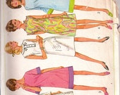 Swingin' A-Line Dress with 3 Sleeve Lengths Simplicity 7082 Sz 12