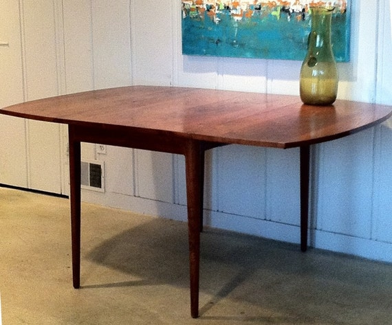 Mid Century Drop Leaf Table