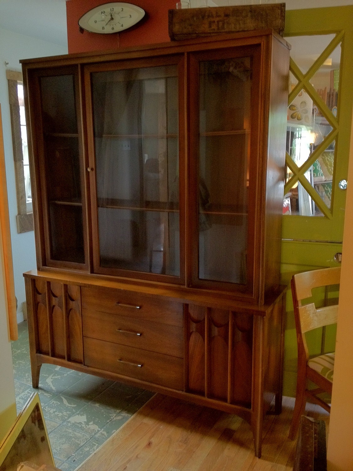 On Sale Kent Coffey Mid Century China Cabinet By Barefootdwelling