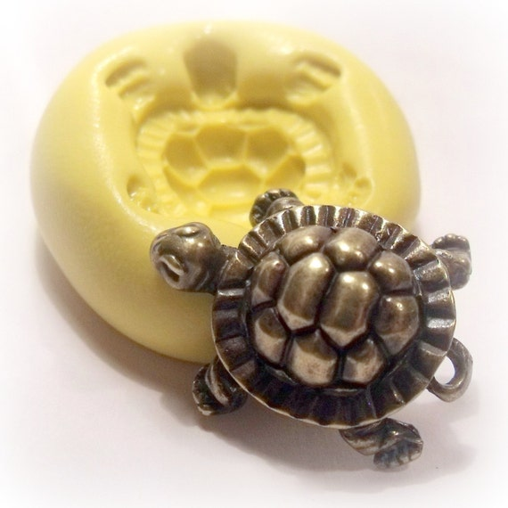 kawaii turtle flexible mold mould for jewelry, soap, resin, kawaii crafts, food sweets, desserts.