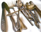 create your own 24 piece set of vintage silverware///wedding flatware