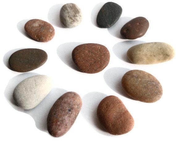 Natural Beach Stones - Baltic Sea/ Beach near small village of Saulkrasti -Different Shades