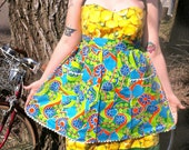 Vintage Apron Psychadelic Flowers 4 for 25