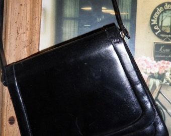 Vintage black flap bag