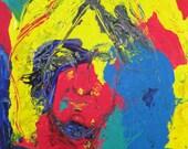 Self Portrait -Primary Colors Original Painting 24x18