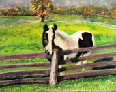 Original Pastel Painting...One Lone Horse 18x24  375