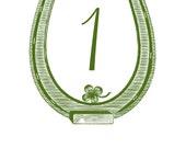Horseshoe Table Numbers, custom table numbers, vintage Americana wedding 1-20