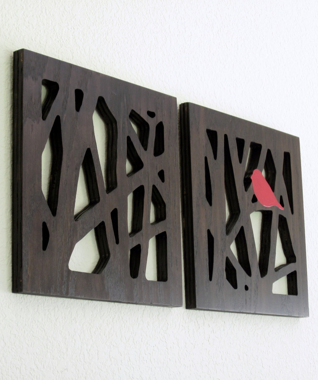Red Wooden Wall Decor : Unavailable listing on etsy