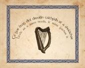 5x7 Custom Irish Proverb Art