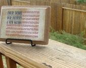Wooden Plaque: Gettysburg (Tan)