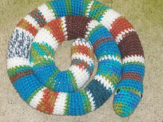 Amigurumi Snake - Crocheted Snake in Southwest Colors (Finished Item)