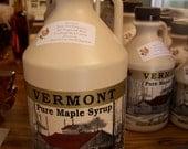 100 percent Pure Vermont Maple Syrup 1/2 gallon