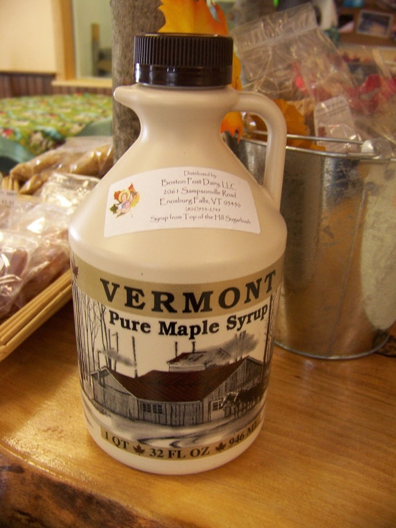 100 percent Pure Vermont Maple Syrup Quart / Organic