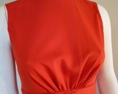 Revamped VINTAGE 70'S Fire Engine Red Mini Dress Size small