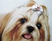 Sweetheart Dog Bow Handmade Grooming Pet Accessories