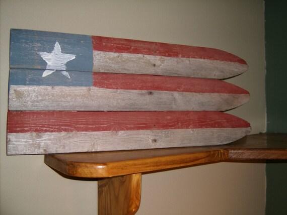 Americana Primitive American Flag Wall Decor Folk Art By