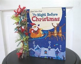 SALE!!!!! DIY Altered Little Golden Book: The Night Before Christmas Kit