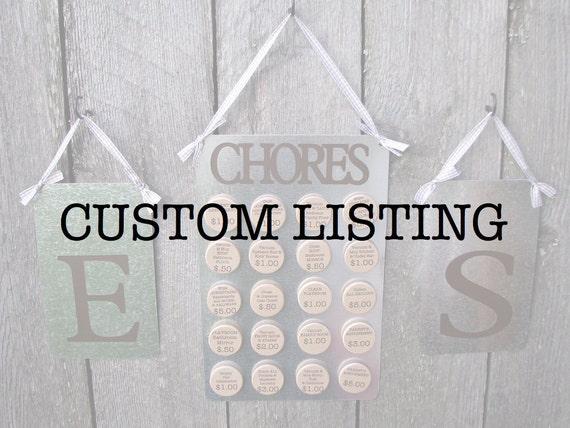 christibenderanthony's Completely Custom Chore Chart