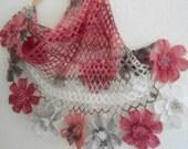fashion, 2012,gift, valentine, valentines day, winter trends,flower shawl ,bride,scarf