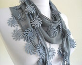 Traditional Turkish-style, Necklace scarves,Headband, scarf, gift, gray,  fashion, 2012, Special Fashion, spring celebration, mothers day