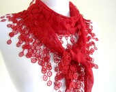 Traditional Turkish-style, Necklace scarves,Headband, scarf, gift, Red,  fashion 2012, Special Fahion, spring celebration, mothers day