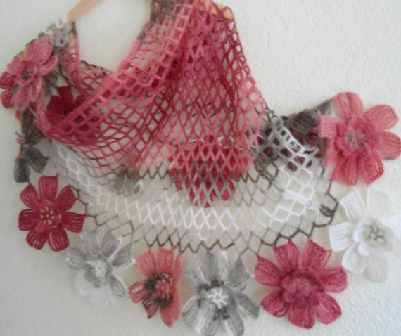 fashion, 2012,gift, valentine, valentines day, winter trends,flower shawl ,bride,scarf