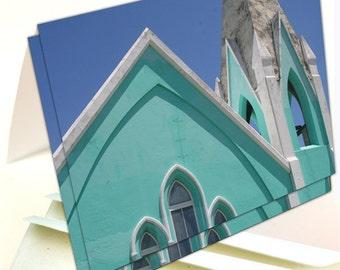 Bermuda Aqua Church Note Cards