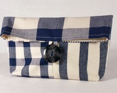 Pouch/ Purse/ Eco Friendly/ Foldover Bag/ Patchwork Bag/ Cosmetic Bag/ Makeup Bag/ Ready To Ship