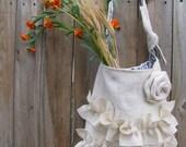 White Burap Bag Bridal Wedding Purse