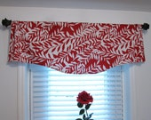 SALE!!! Window Treatments Decorative Scalloped Valance Red Lipstick