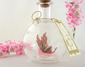 Pink Flower Faerie - Fairy in a Bottle MADE TO ORDER