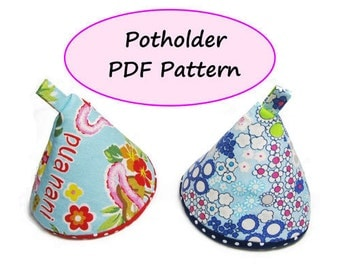 PDF Sewing Pattern - Potholder - (Downloadable)