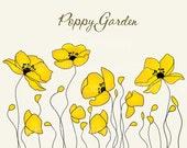 POPPY GARDEN, Blonde. 9 Piece digital clip art collection. In Png & Jpeg files.
