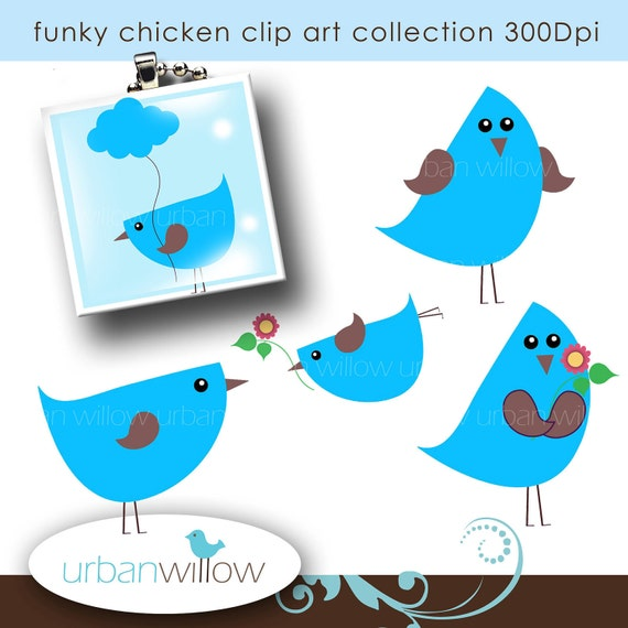 Items similar to FUNKY CHICKEN - Clip art for commercial ...