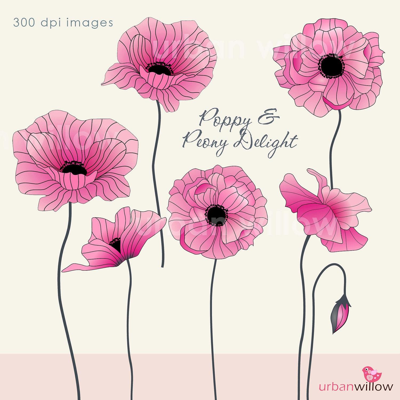 Poppy Flower Clipart