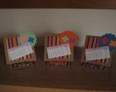 Custom listing for Laura Damiano - good luck calendars (desk calendars with four-leaf clovers)