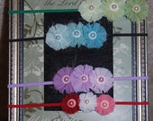 Prima Flower Skinny Headbands, (Babys to Toddlers)