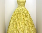 "Evening dress  ""daisy ""  silk taffeta"