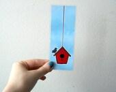 Birdhouse - Laminated Illustrated Bookmark