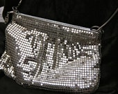 Vintage 1970s Silver Mesh Disco shoulder Purse