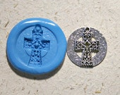 Celtic cross, flexible silicon push mold, for charm, mini food, craft, polymer clay, resine and more , (m50)