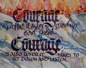 "Courage card 5"" x 7"""
