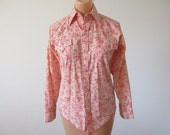 Vintage 70s Western Pearl Snap Shirt Champion