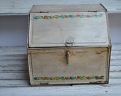 Vintage Metal Bread Box - Two Tiered
