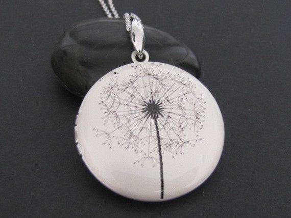 Dandelion - Silver plated photo Locket